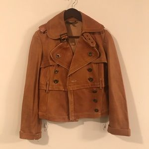 Bebe Genuine LeatherJacket In Cognac S